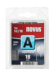 Novus Feindrahtklammern 18 Mm Superhart, 1000 Klammern, Klarsichtverpackung, Typ A5318, Heftmittel Aus Stahldraht