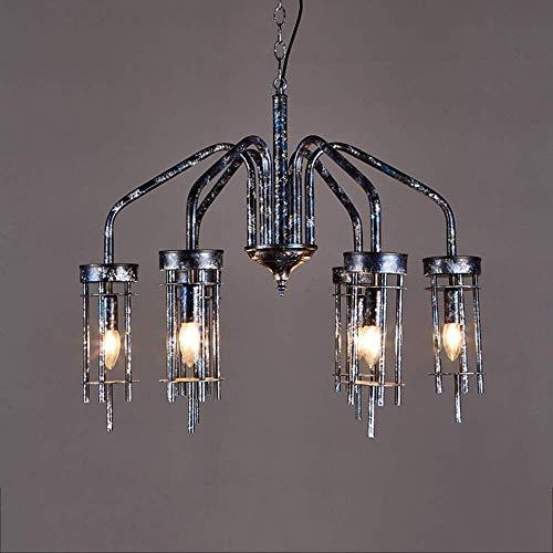 Kactera e14 a 6 luci di personalità creativa lampada a sospensione industriale, nostalgico d'antiquariato del metallo in ferro battuto chandelier, ristorante bar cafè illuminazione decorativa