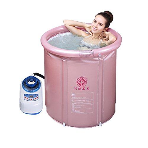 EVERFOUNT SPRING Whirlpool MSpa aufblasbar Bubble Massage Spa Beheiztes Bad Pool aufblasbaren Pool Tragbare Badewanne Dampf Sauna Spa Heizung therapeutische Packung (Rosa-Pink)