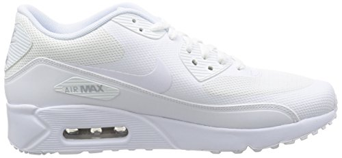 Nike Air Max 90 Ultra 2.0 Essential, Baskets Homme Blanc (White/White-White-Pure Gris Platinum)