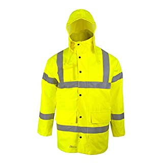 Asatex 3150E XL Prevent High Visibility Parka, Bright Yellow, X-Large