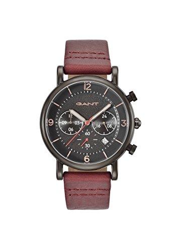 GANT TIME Herren-Armbanduhr Analog Quarz Leder GT007002 (Uhren Für Herren Gant)