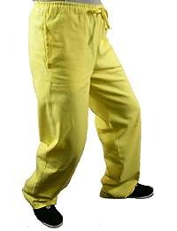 Maßgeschneiderte Goldene Tai Chi Hosen Handgefertigt aus Weicher Baumwolle #128