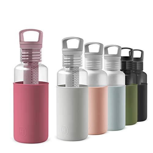 Calidad superior - Las botellas de agua HYDY están fabricadas de acuerdo con las estrictas directrices de SWISS normas de seguridad SGS. Botella fabricada con Tritan, que permite una transparencia similar al cristal y es ligera para su transporte....