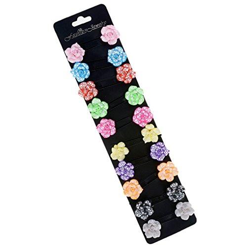 Yantu Mädchen Infant Kleinkind Bunte Blume Blüte Haar Pin Bobby Pin Kinder Haarspangen 10 Paar Verpackung (Color 4)