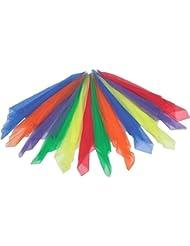Nalmatoionme Lot de 6pcs Candy-colored Petite Écharpe pour des performances Dance (couleur aléatoire)