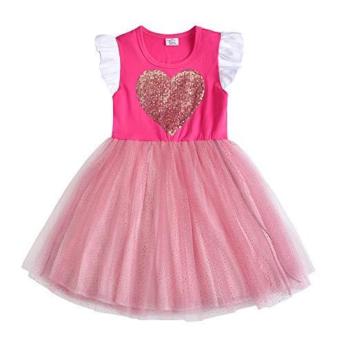 der Sommerkleid Blume Baumwolle Lässige Kinderkleidung Gr. 92-128 SH4542 6T ()