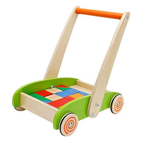 Baby Vivo Lauflernwagen Lauflernhilfe Gehfrei Gehilfe Kinder Laufwagen Spielzeug Baby Walker Multifunktional aus Holz Henry