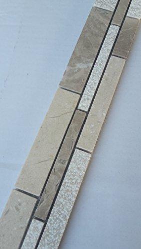 Emperador Braun Marmor (Mosaik Bordüre Marmor Naturstein Fliesen Emperador Braun Crema Marfil Beige B036)