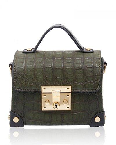 LeahWard® Minigröße Damen Mode Kreuzbeutel Damen Qualität Bote-Tasche Handtaschen 160421 Olive