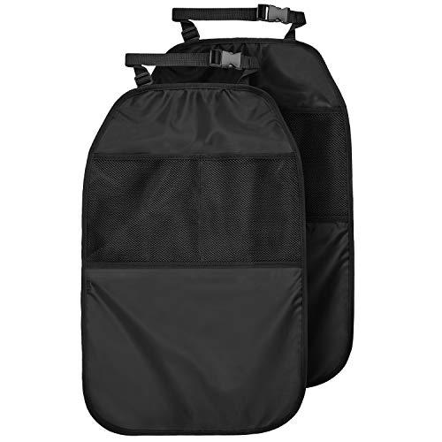 CARTO Rückenlehnenschutz mit Netztaschen, 2 Stück, schwarz   Auto-Rücksitzschoner/Kick-Matten-Schutz/Trittschutz für Kinder