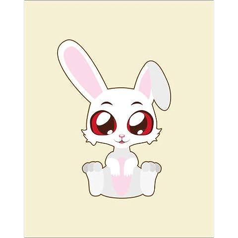 Impresión en metacrilato 100 x 120 cm: Googly-eyed bunny de Colourbox