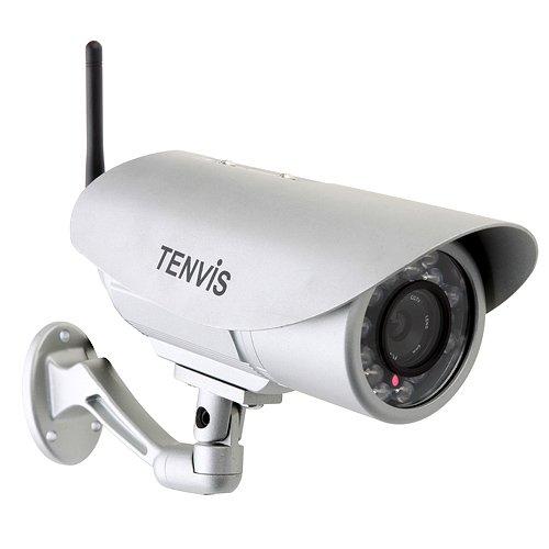 TENVIS IP391W - CAMARA DE SEGURIDAD INALAMBRICA PARA EXTERIORES CON VISION NOCTURNA Y VISION POR MOVIL (VISION NOCTURNA HASTA 20 M)