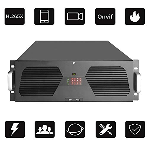 Preisvergleich Produktbild LYJPXLK NVR Festplatten Rekorder (64-Wege-4K-Zugang,  H.265-Videokomprimierung,  AI intelligente Erkennung,  16 Festplatten * 8 TB (Nicht im Lieferumfang enthalten))