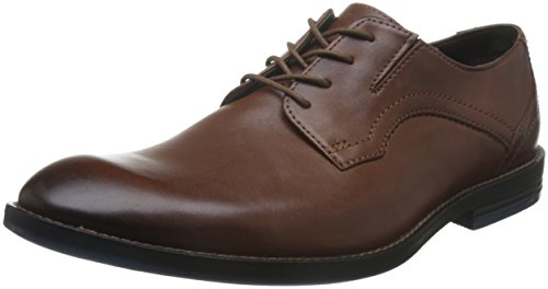 Clarks Prangley Walk, Zapatos de Cordones Derby para Hombre, Marrón (British Tan), 40 EU