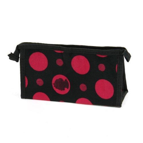 Motif Cercle Rouge Noir Cosmetic Makeup Bag Pouch petite taille pour femme