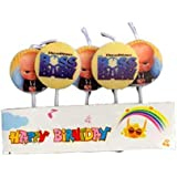 Partytoko Boss Baby Birthday Candle for Boss Baby Theme Party - Pack of 5