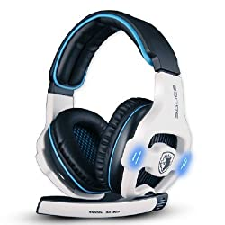 Sades Sa903 7.1 Surround Stereo Sound Usb Gaming Headset + Built In Sound Card