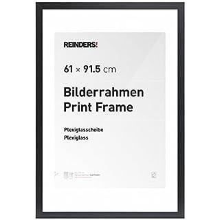 REINDERS® Bilderrahmen für Maxi-Poster 61x91,5cm - Schwarz Holz Modern