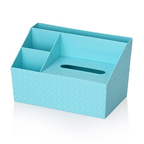 qearly creativi cosmetici Tuecher Box penna Tazza Storage Basket Office Organizer Blu