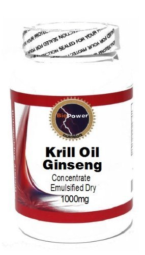 Krill Oil 1000mg Concentrate Emulsified Dry 100 Capsules # BioPower Nutrition by BioPower Nutrition