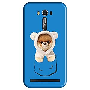 Mobo Monkey Designer Printed Back Case Cover for Asus Zenfone 2 Laser ZE550KL (5.5 Inches) (Pug :: Animal :: Cute :: Cartoon :: Pocket)