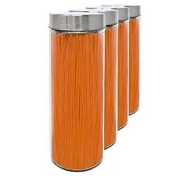 Set 4 Vorratsdosen aus Glas, 1,75 L (30,5x10 cm), mit Schraubverschluss.