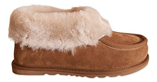 Nordvek - Stivali donna 100% vera pelle con bordo in pelliccia e suola antiscivolo - # 404-100 Marrone chiaro