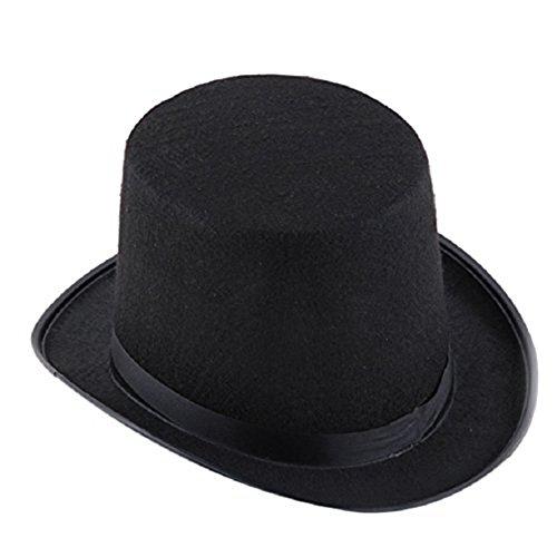 SODIAL(R) Sombrero negro del mago Sombrero de Halloween Sombrero de jazz negro