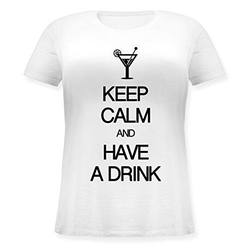 aafe7800272d Keep calm - Keep calm and have a drink - Lockeres Damen-Shirt in großen