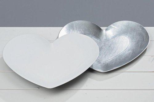 Platzteller Herz 2sort 36x31cm Kunststoff