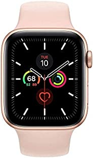Apple Watch Series 5 GPS, 44mm Gold Aluminium Case with Pink Sand Sport Band - S/M &