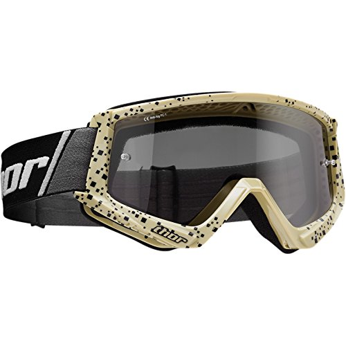 Thor Combat Sand Goggle Crossbrille Braun Motocrossbrille Offroad Enduro Quad ATV MX SX MTB Motocross Supermoto Downhill Cross Brille getöntes Glas
