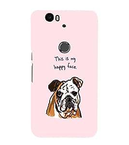 EPICCASE Happy Bulldog Mobile Back Case Cover For Huawei Nexus 6P (Designer Case)