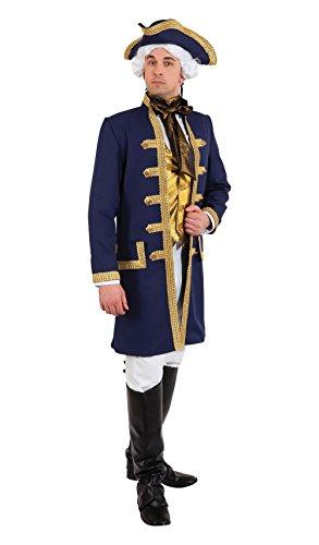 Bristol Novelty AF055 Admiral Kostüm, Blau/Gold (Gold Kostüme Blau Und)
