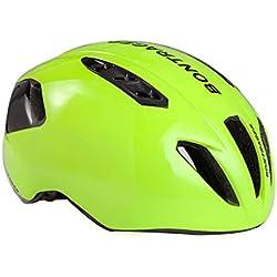 HK-Kensolng Bontrager Team Casco de Bicicleta Aero Casco de Bicicleta para Hombres/Mujeres Casco de Ciclismo Ultraligero TT Triatlón Casco Ciclismo Green M