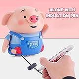 JklausTap 3D-Stift 3D-Druckstift 3D-Stift für Kinder, Lernstift Induktives Spielzeug Schwein Weihnachtsspielzeug mit Filzstift, Handbuch, Kinder