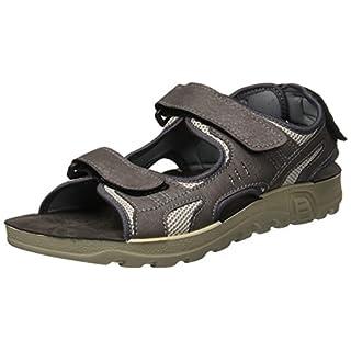 INBLU Men's Trial Open Toe Sandals, Grey, 7 7 UK