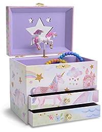 Jewelkeeper - Grande Boîte à Bijoux Musicale pour Enfants avec 2 Tiroirs - Large Choix de Motifs