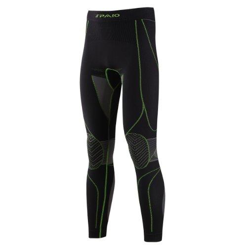 SPAIO Revolution Line Homme Compression thermounterhose funkstionsunterwäsche Pantalon sous-vêtement de Ski Noir Noir XXL