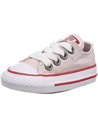 Converse Unisex Baby CTAS 2V OX White/Cherry Blossom Krabbelschuhe, Weiß (White/Cherry Blossom 100), 21 EU