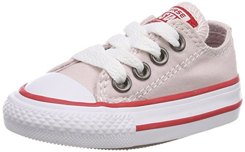 Converse Unisex Baby CTAS OX Barely Rose/Enamel RED/White Hausschuhe, Pink 653, 21 EU