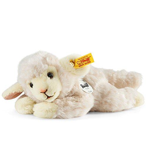 Steiff 280030 Linda 22 wollweiss liegend Lamm, Weiss