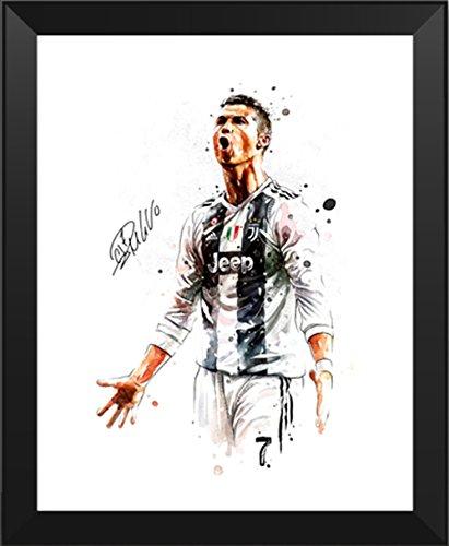 huge selection of af826 86270 ASENER Cristiano Ronaldo Foto-Display, Juventus Jersey CR7 Signiert  Autogramm Bilder Fotorahmen,10Inch