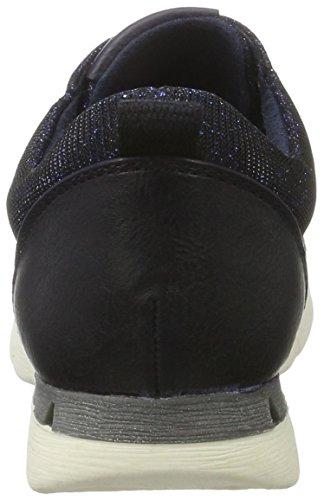 Marco Tozzi Cool Club 43201, Sneakers Basses Fille Bleu (Navy Metallic 824)