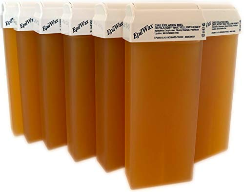 Epilwax set da 12 miele rulli cera per depilazione - larghezza 100 ml roll-on ricarica cera