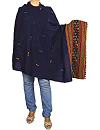 ShalinIndia - Foulard - Femme - Bleu (Blue) - Taille unique (Taille fabricant: one size)
