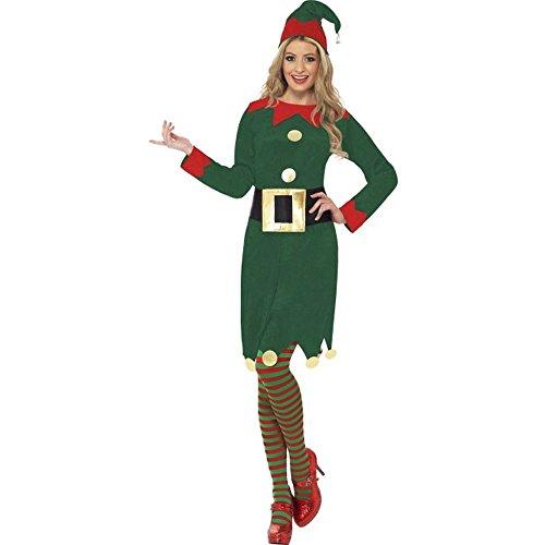 Damen Kostüm Elf Weihnachtself Karneval Fasching Weihnachten -