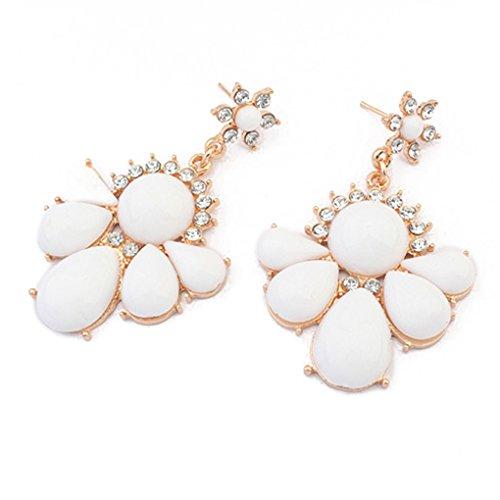 LUFA Für Frauen und Damen Kristalllegierungs-weiße Blume baumeln -