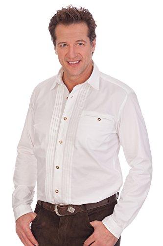 Alpenwahnsinn Trachtenhemd, Größe 41/42 (L) Weiß
